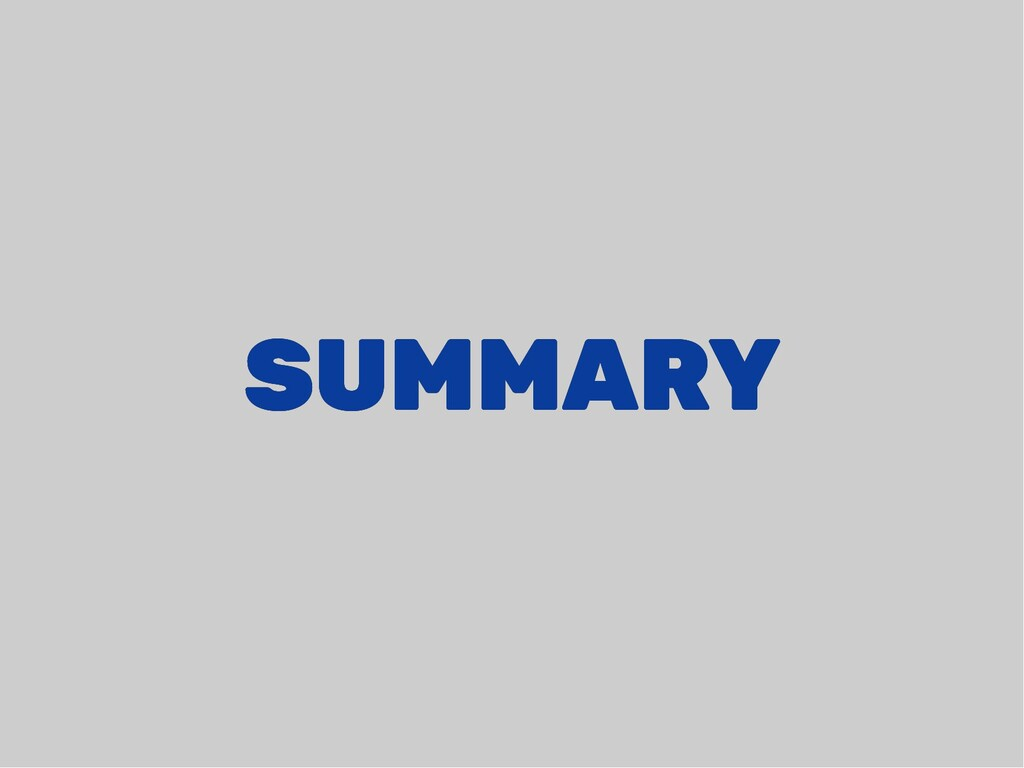SUMMARY SUMMARY
