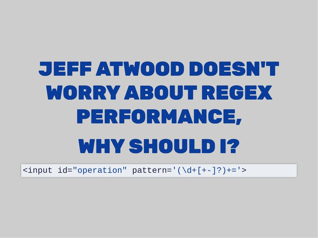 JEFF ATWOOD DOESN'T JEFF ATWOOD DOESN'T WORRY A...
