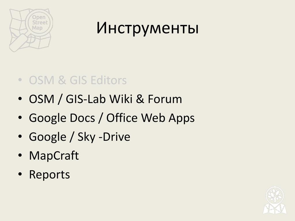 Инструменты • OSM & GIS Editors • OSM / GIS-Lab...