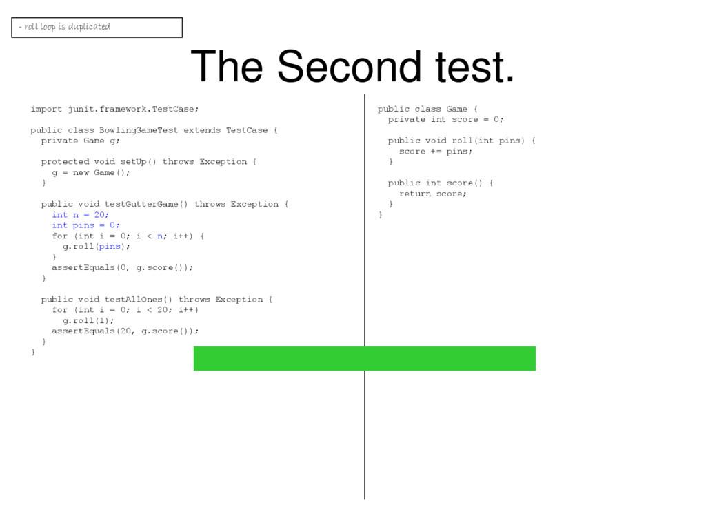 The Second test. import junit.framework.TestCas...