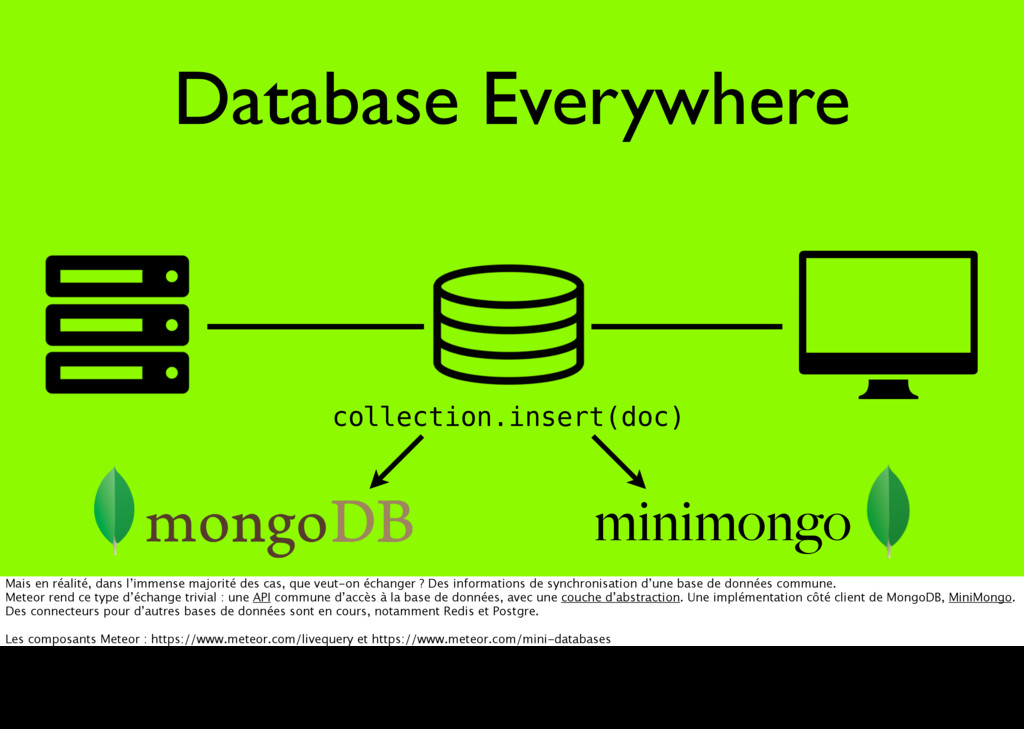 Database Everywhere minimongo collection.insert...