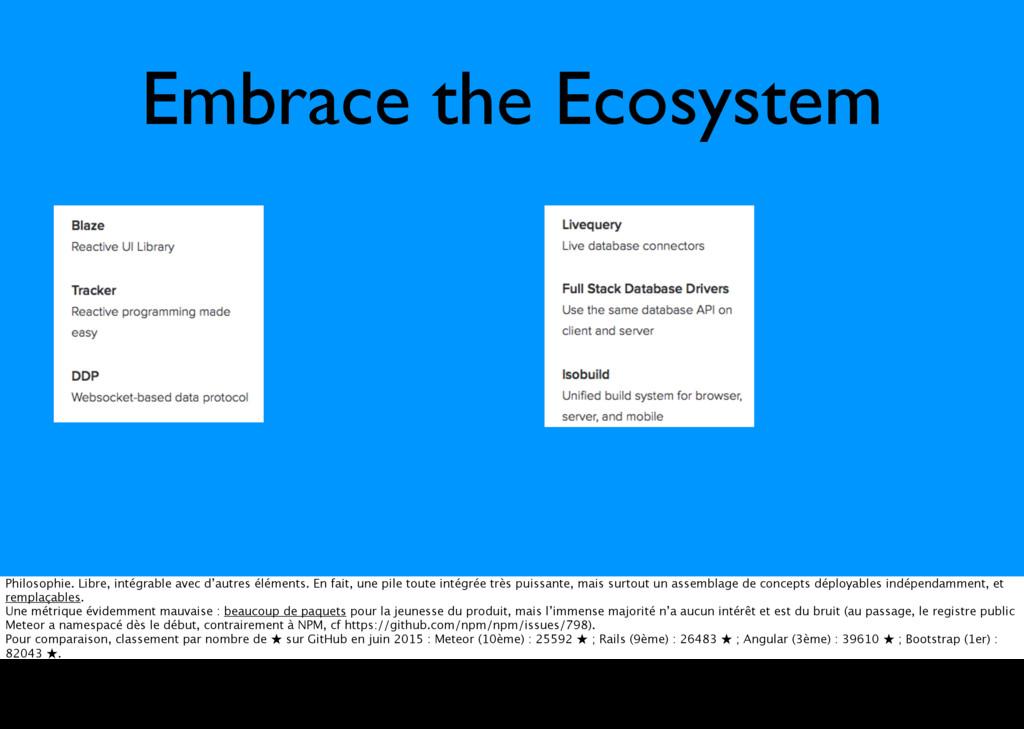 Embrace the Ecosystem Philosophie. Libre, intég...