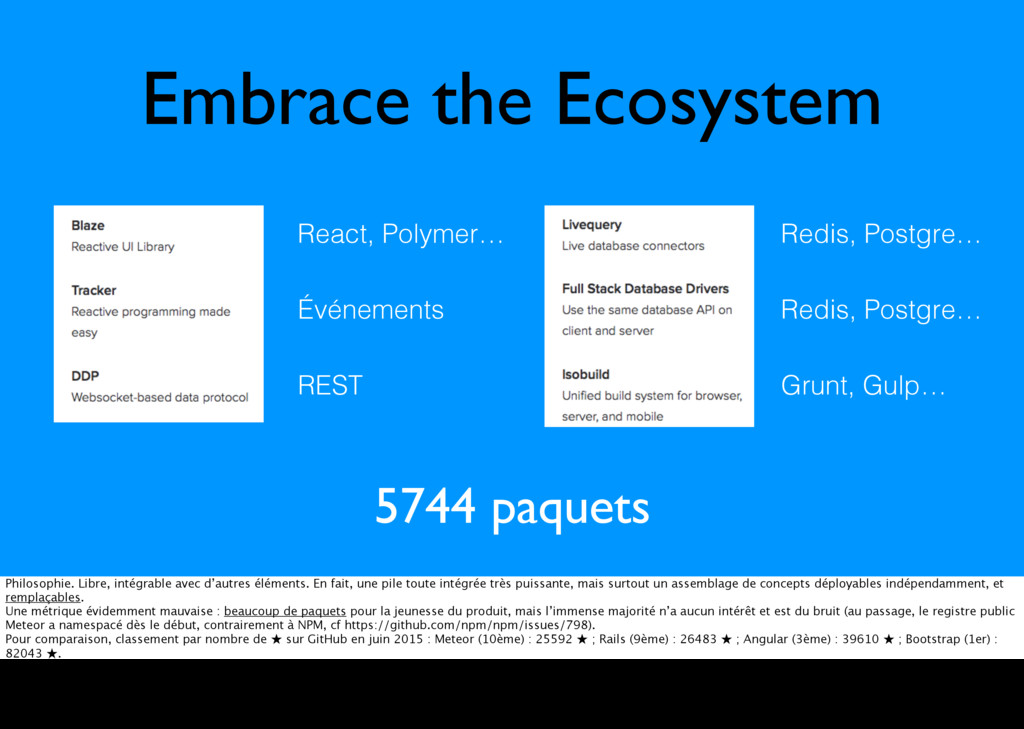 Embrace the Ecosystem React, Polymer… Redis, Po...