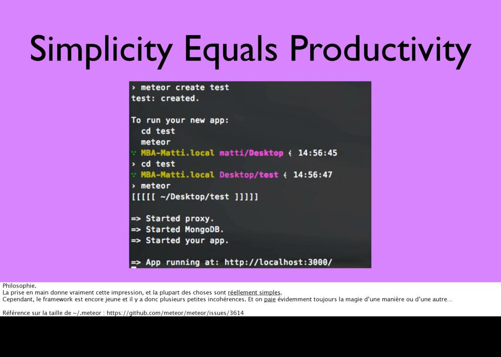 Simplicity Equals Productivity Philosophie. La ...