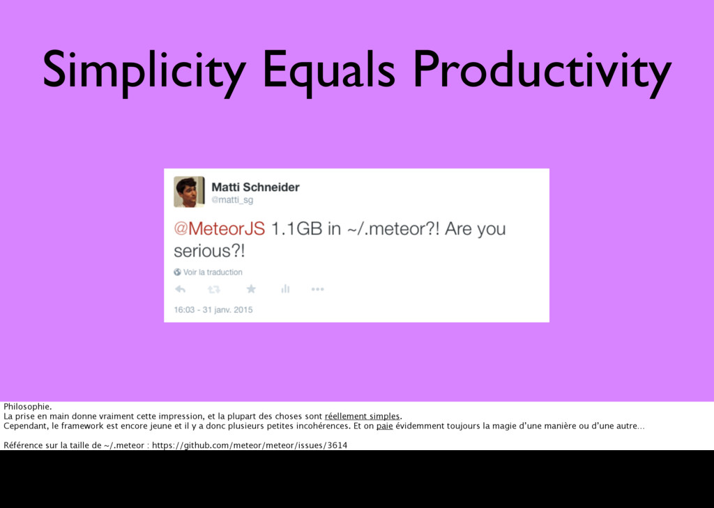 Simplicity Equals Productivity meteor add sgmap...