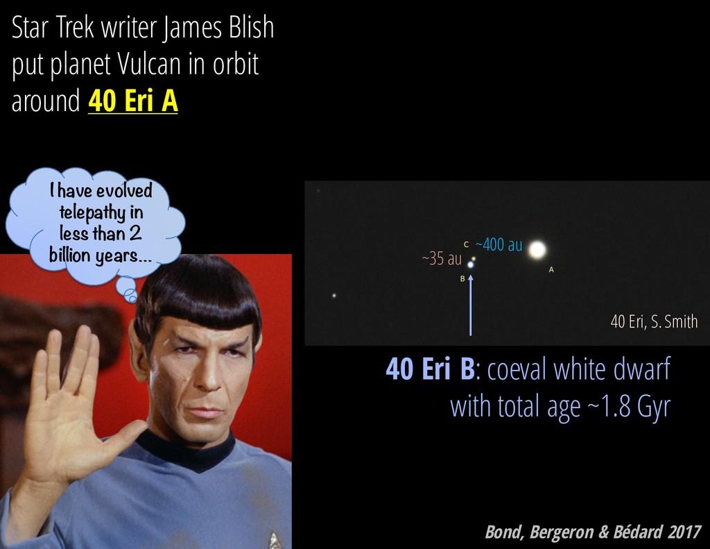 40 Eri, S. Smith Star Trek writer James Blish p...