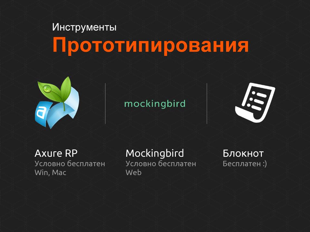 Инструменты Прототипирования Axure RP Условно б...