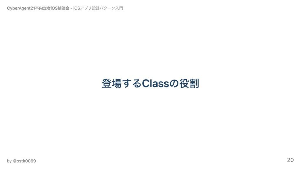 登場するClassの役割 CyberAgent21卒内定者iOS輪読会 - iOSアプリ設計パ...