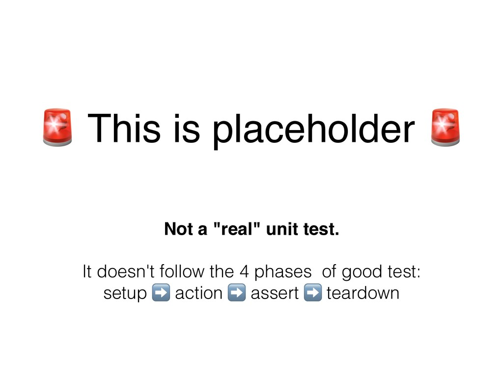 """ This is placeholder "" Not a ""real"" unit test...."
