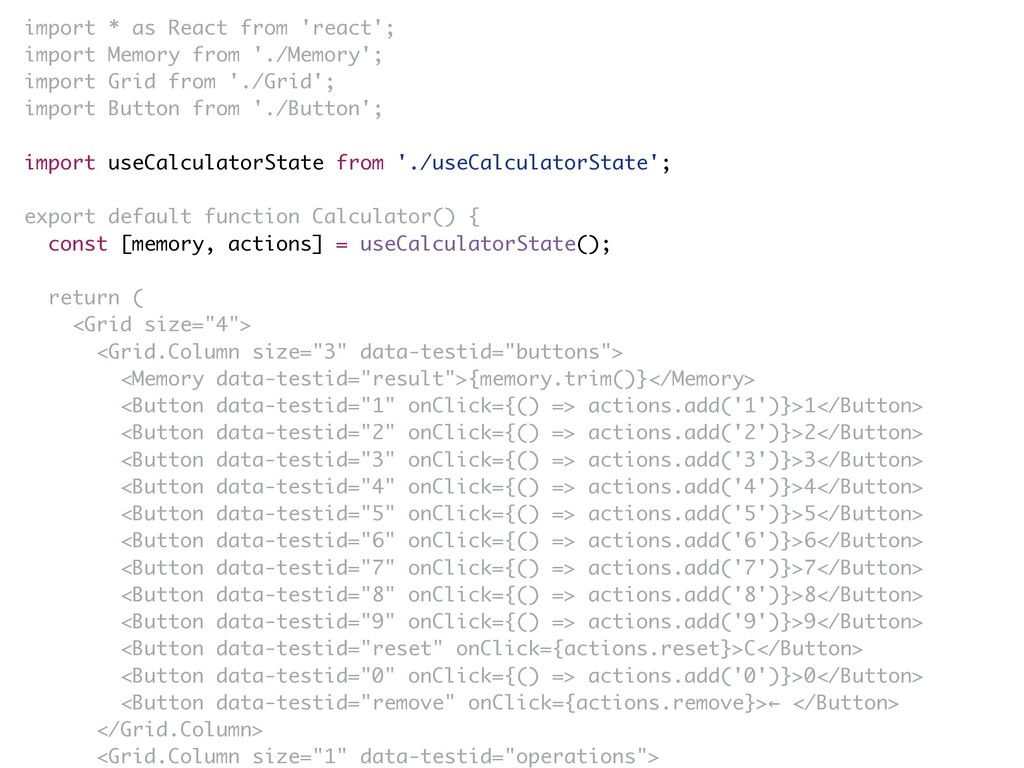 import * as React from 'react'; import Memory f...