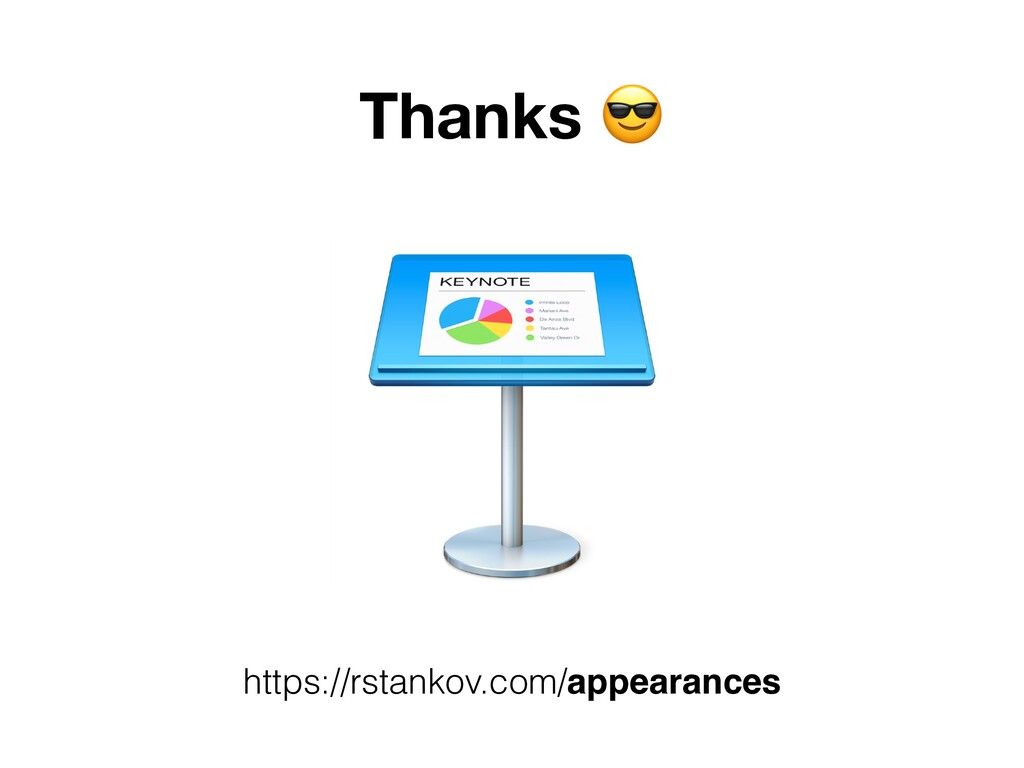 Thanks . https://rstankov.com/appearances