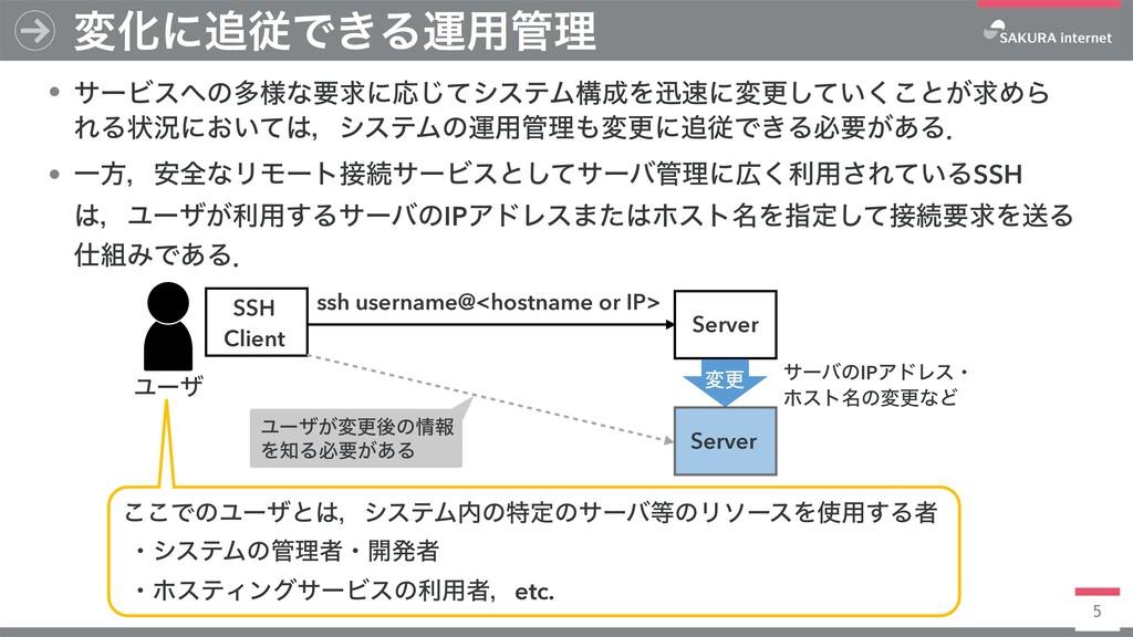 5 ssh username@<hostname or IP> SSH Client • αʔ...