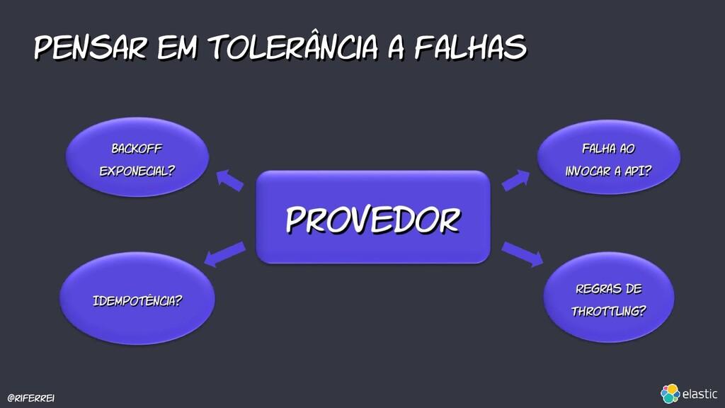 @riferrei Pensar em tolerância a falhas