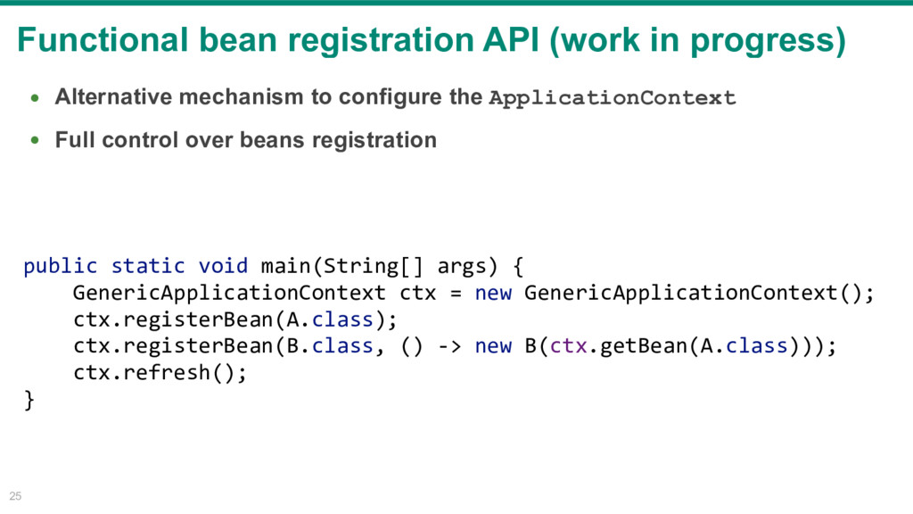 Functional bean registration API (work in progr...