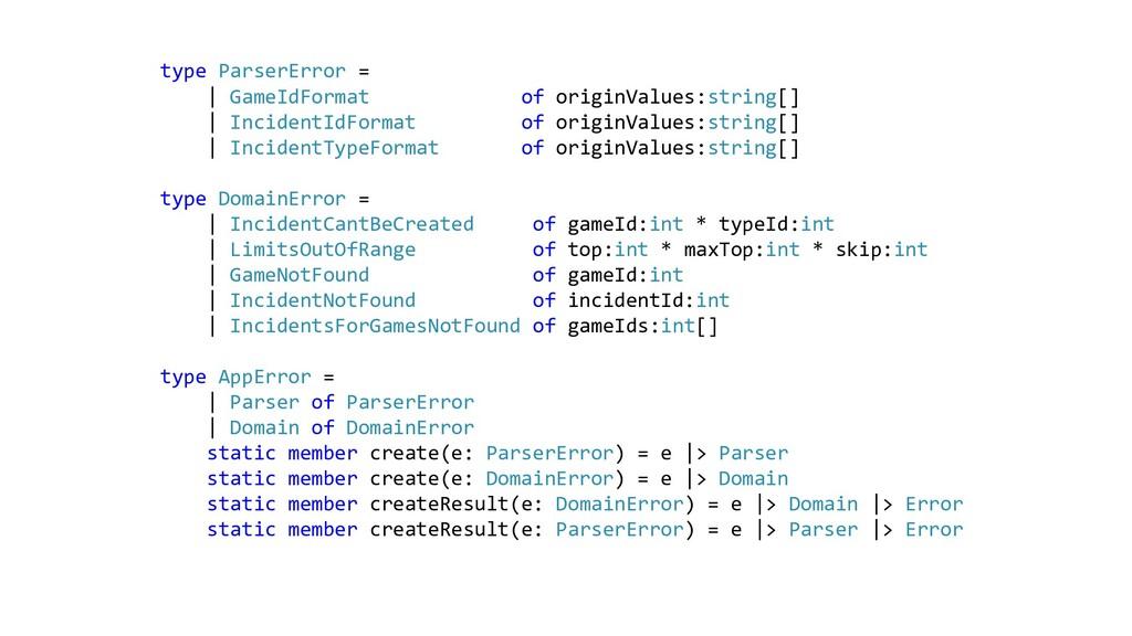 type ParserError = | GameIdFormat of originValu...