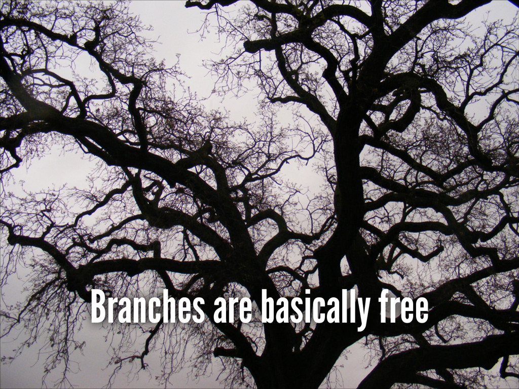 Branches are basically free