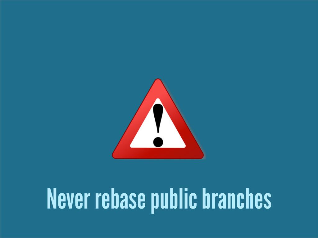 Never rebase public branches