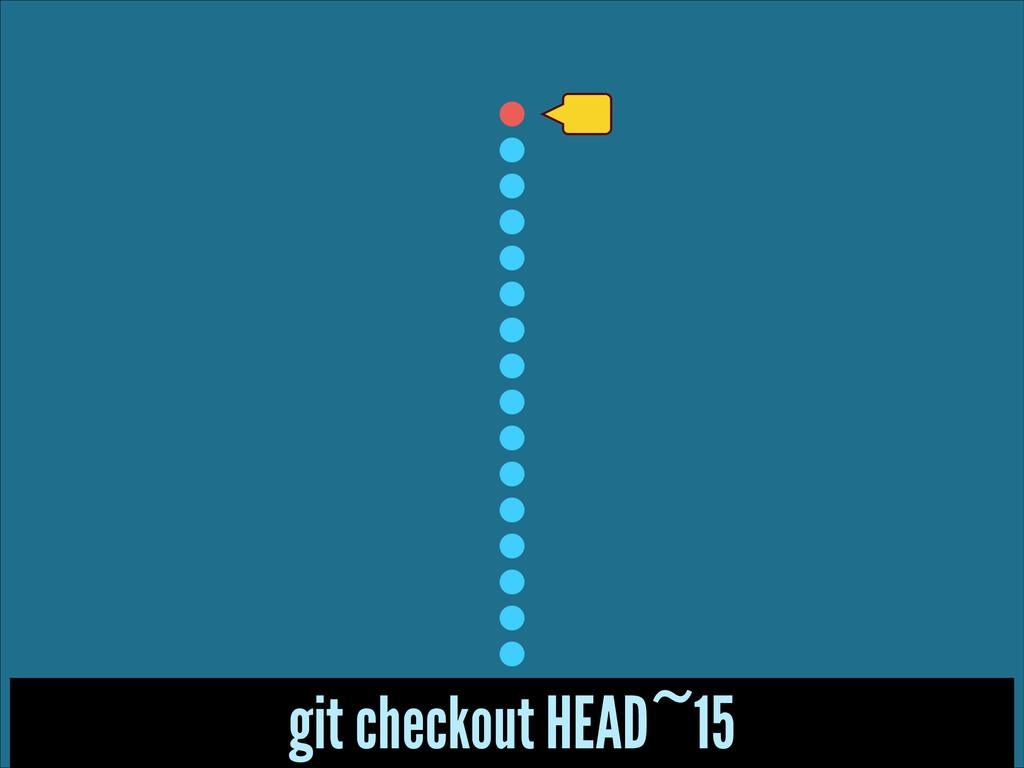 git checkout HEAD~15