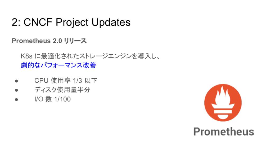 2: CNCF Project Updates Prometheus 2.0 リリース   K...