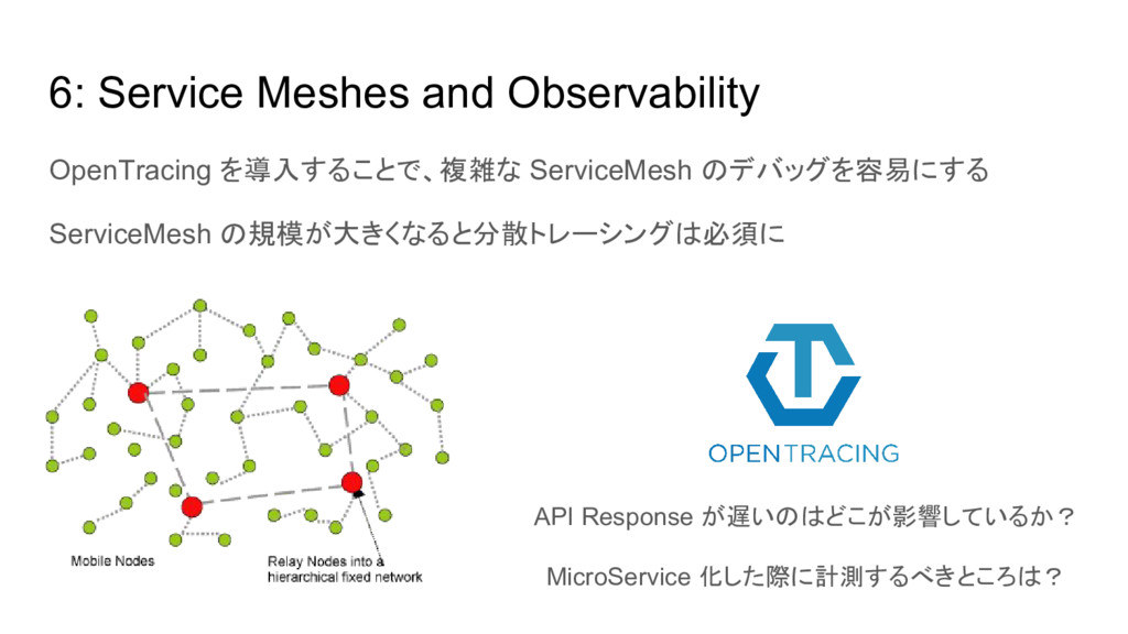 6: Service Meshes and Observability OpenTracing...