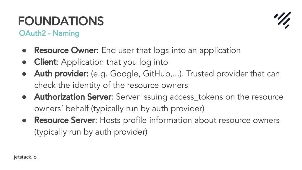 jetstack.io FOUNDATIONS OAuth2 - Naming ● Resou...