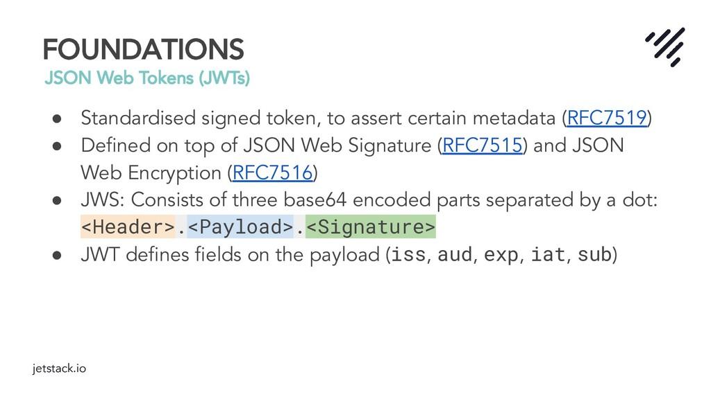 jetstack.io FOUNDATIONS JSON Web Tokens (JWTs) ...