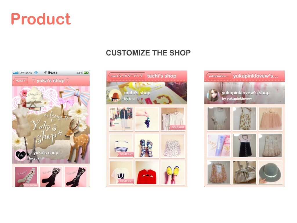 Product CUSTOMIZE THE SHOP