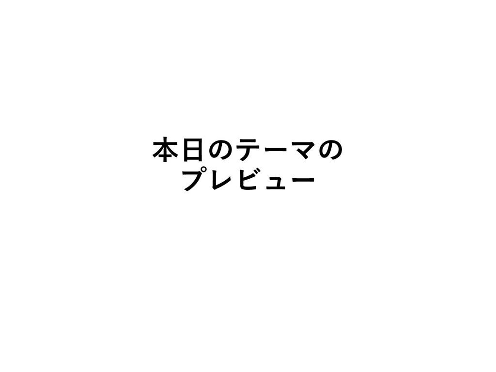 本⽇のテーマの プレビュー