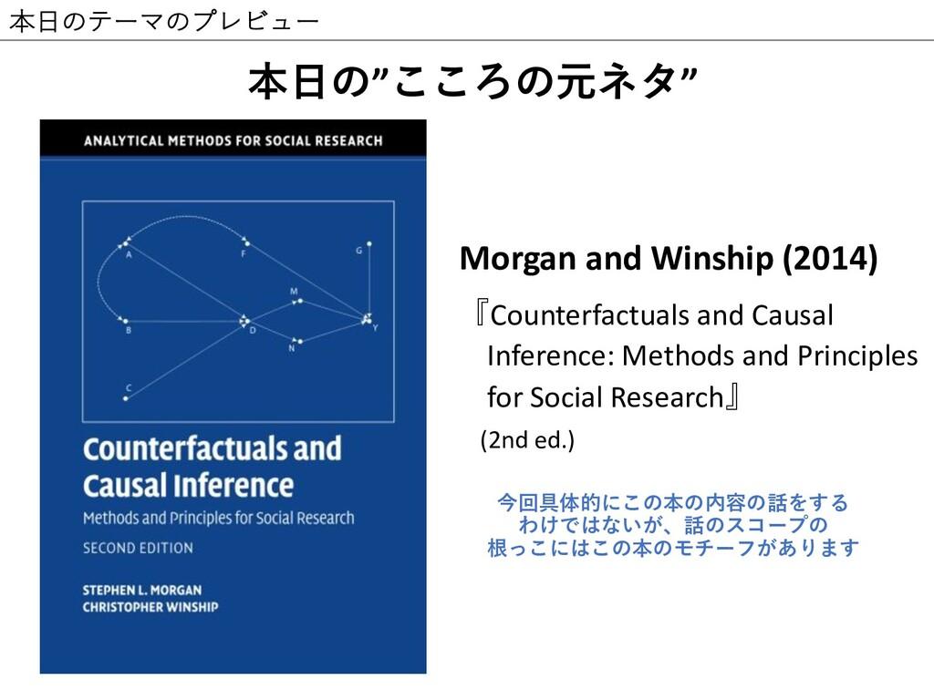 本⽇のテーマのプレビュー v IL Morgan and Winship (2014) ...