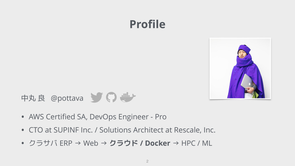 中丸 良 @pottava • AWS Certified SA, DevOps Enginee...