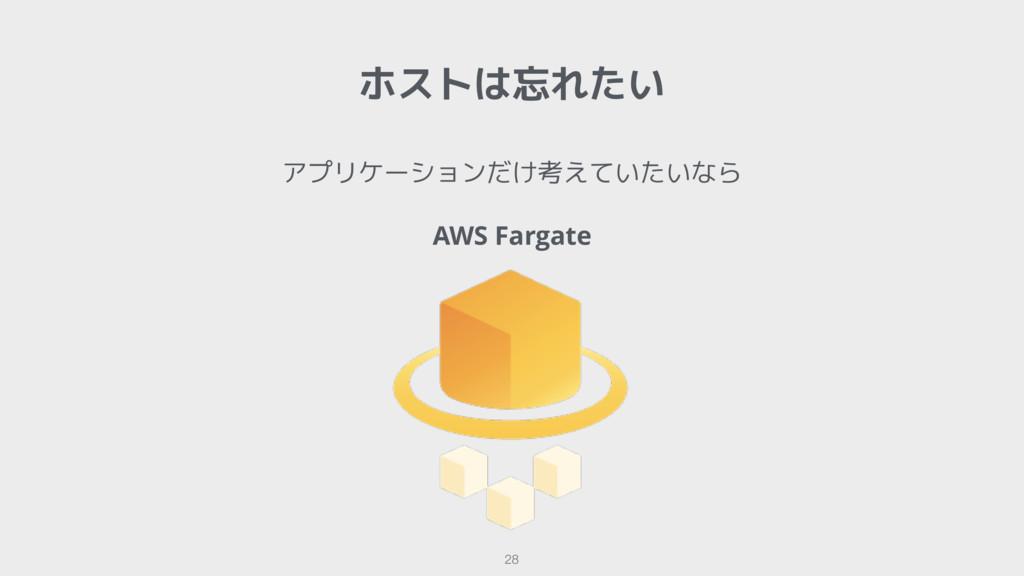 アプリケーションだけ考えていたいなら AWS Fargate ホストは忘れたい 28