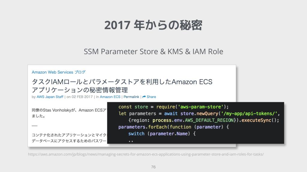 2017 年からの秘密 76 SSM Parameter Store & KMS & IAM ...