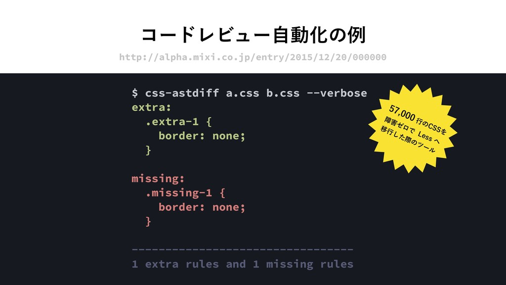 ίʔυϨϏϡʔࣗಈԽͷྫ http://alpha.mixi.co.jp/entry/2015...