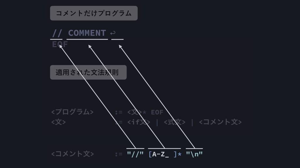 // COMMENT ↩︎ EOF <ϓϩάϥϜ> := <จ>* EOF <จ> := <i...