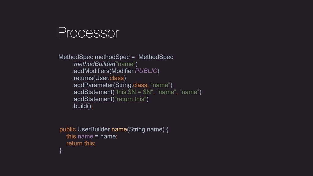 Processor MethodSpec methodSpec = MethodSpec .m...