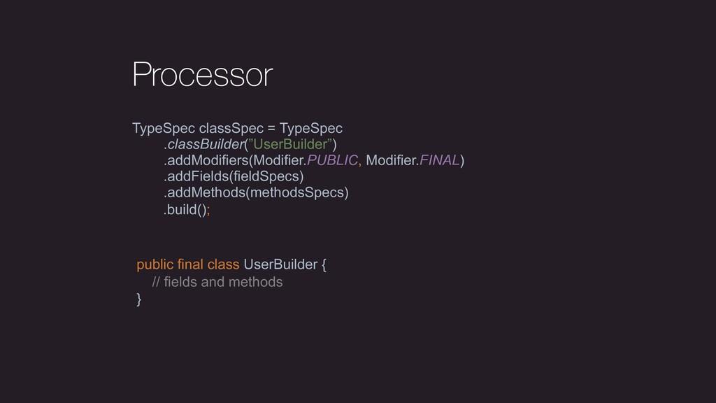 Processor TypeSpec classSpec = TypeSpec .classB...