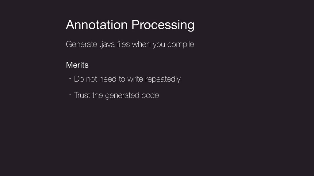 Annotation Processing Generate .java files when ...