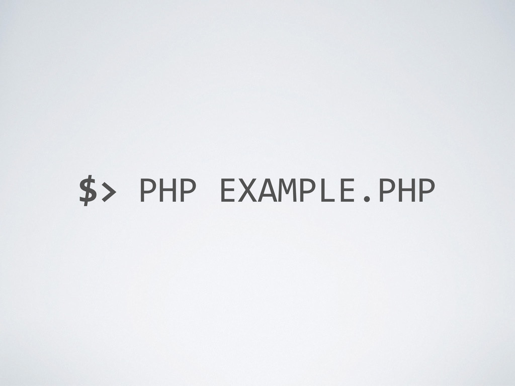 $> PHP EXAMPLE.PHP
