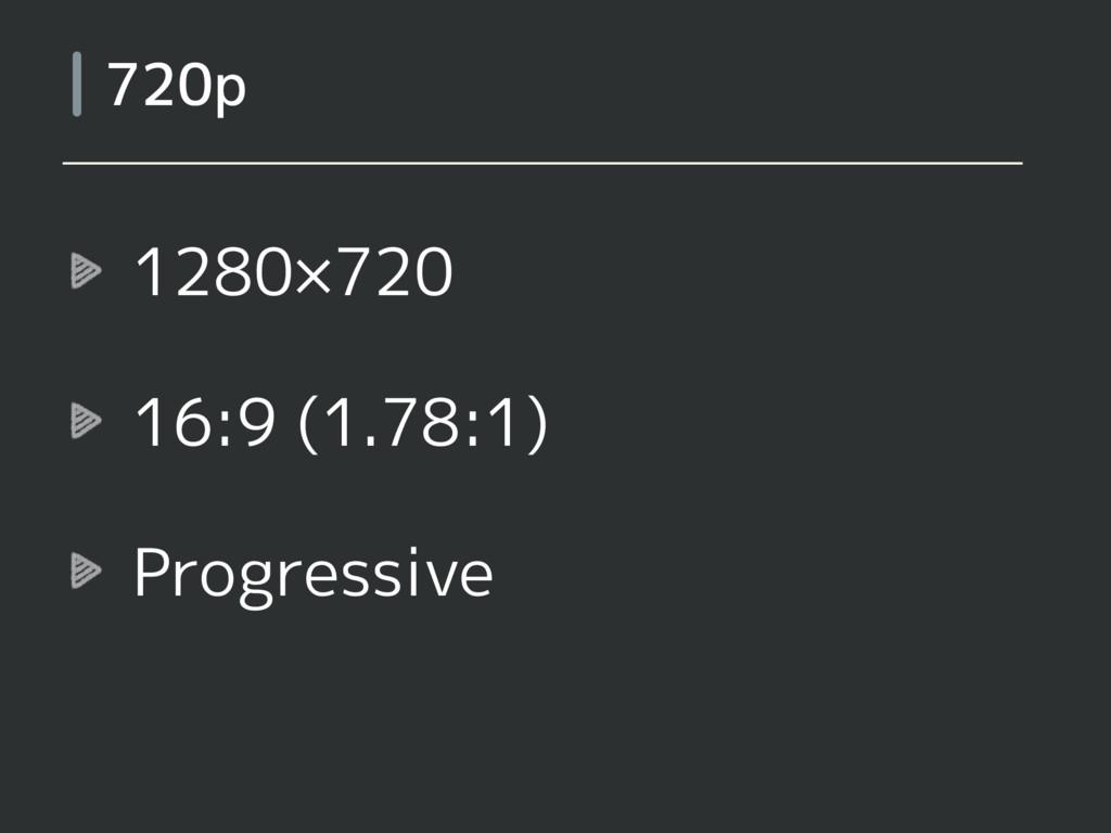 1280×720 16:9 (1.78:1) Progressive 720p