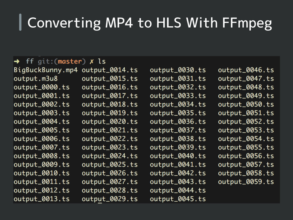 Converting MP4 to HLS With FFmpeg
