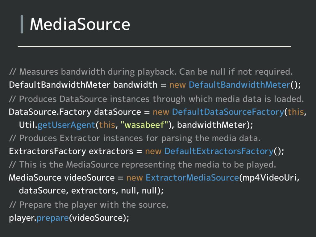MediaSource // Measures bandwidth during playba...