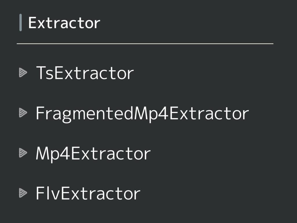 TsExtractor FragmentedMp4Extractor Mp4Extractor...