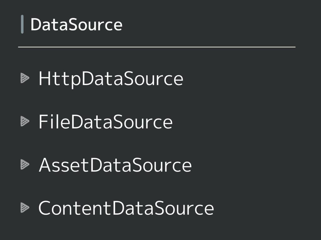 HttpDataSource FileDataSource AssetDataSource C...