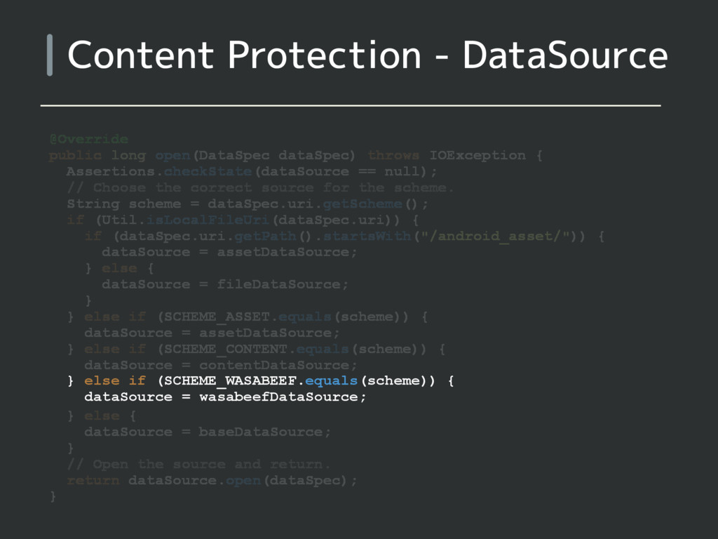 Content Protection - DataSource @Override publi...