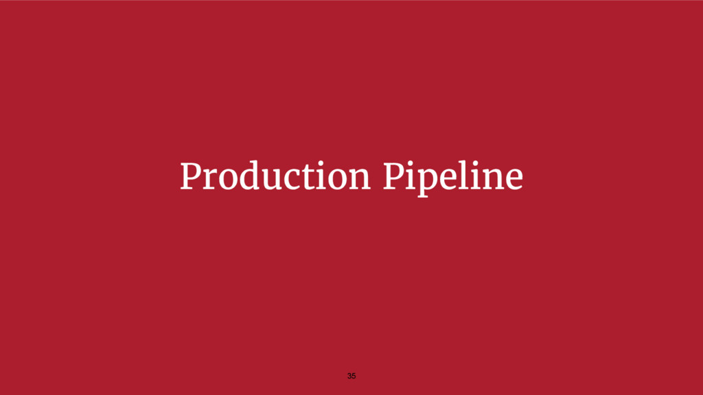Production Pipeline 35