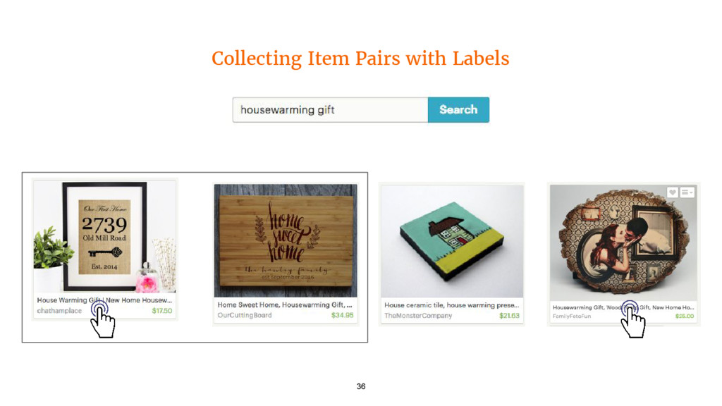 Collecting Item Pairs with Labels 36