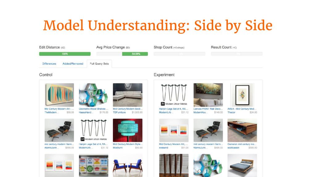 Model Understanding: Side by Side