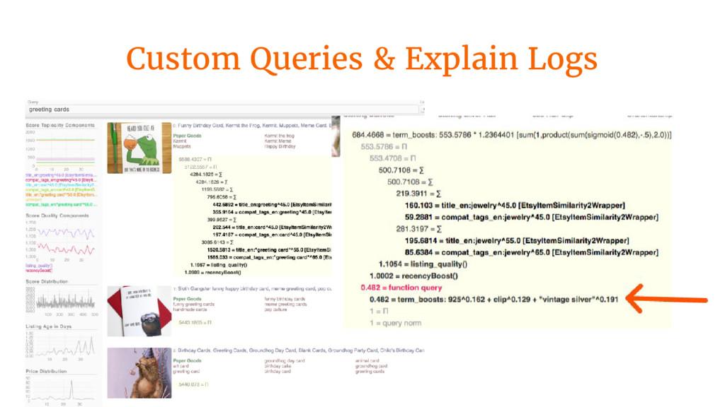 Custom Queries & Explain Logs