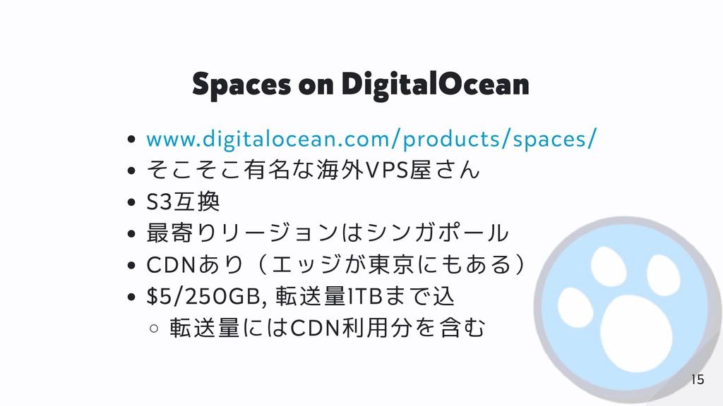 Spaces on DigitalOcean www.digitalocean.com/pro...