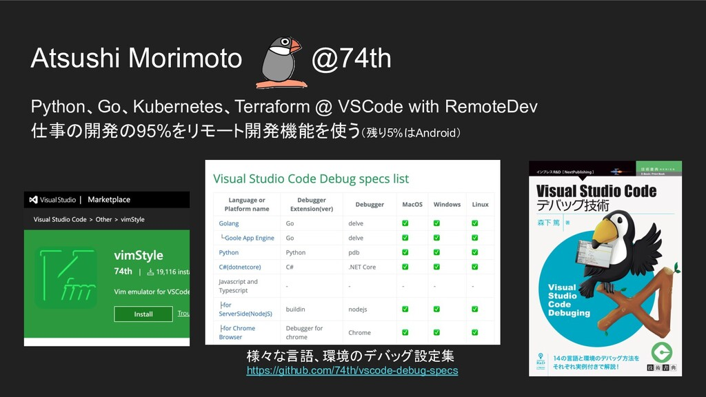 Atsushi Morimoto @74th Python、Go、Kubernetes、Ter...